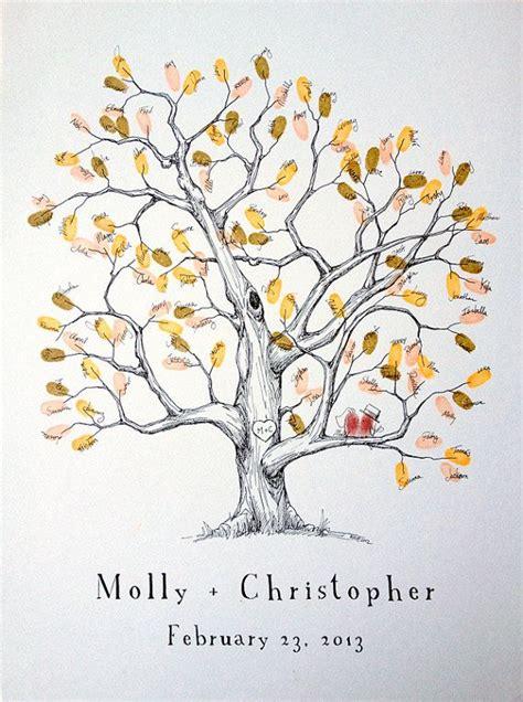 falling on tamarind trees a travelogue of books fingerprint tree wedding guest book alternative medium