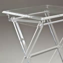 a pair of folding lucite tray tables with stand at 1stdibs