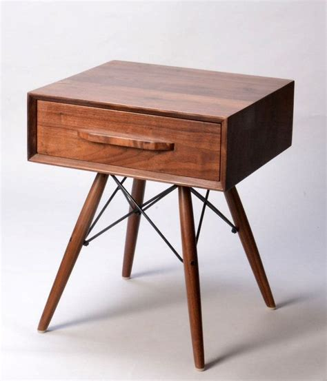 nachtschrank walnuss bedside tables modern walnut wood side table with