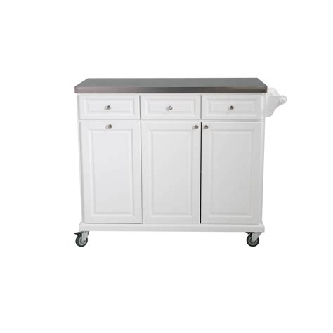 sunjoy buckhead white with stainless steel top