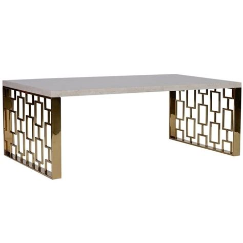 armen living coffee table armen living skyline coffee table in white and gold