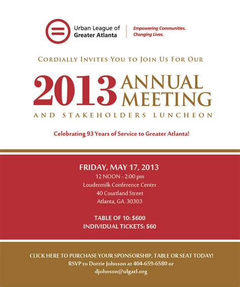 conference invitation templates 2013 league of greater atlanta annual meeting