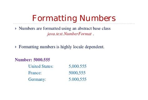 html format number decimal how to format numbers in java numberformat exle java67