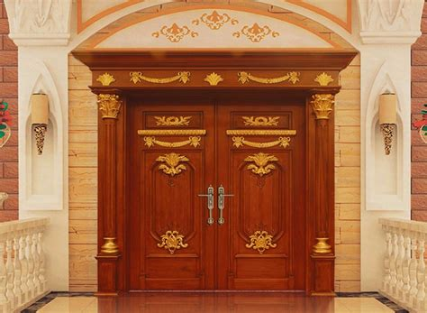 india villa luxury main gate royal palace double carved