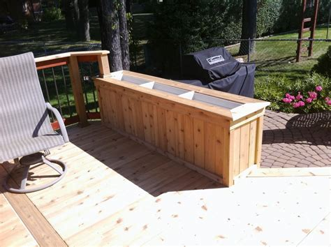 Deck Planter Bench by Cedar Deck Designs Benches And Decks Imanada Also With
