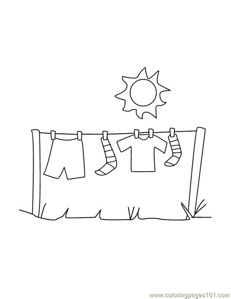 coloring pages laundry peoples gt clothes free