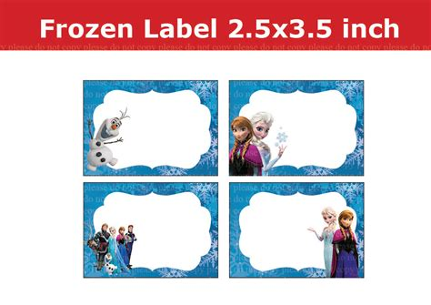 printable frozen labels 6 best images of frozen printable name tags frozen food