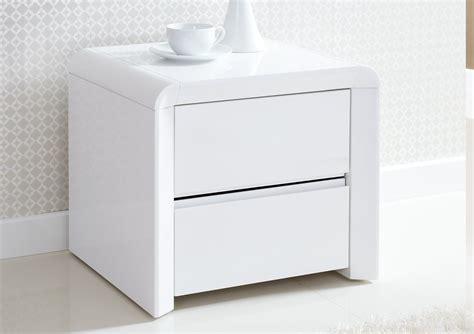 White Bedroom Side Tables Furniture White Polished Oak Side Tables For Bedroom