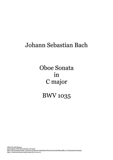 sheet for flute johann sebastian bach sonate in flute sonata in e major bwv 1035 bach johann sebastian
