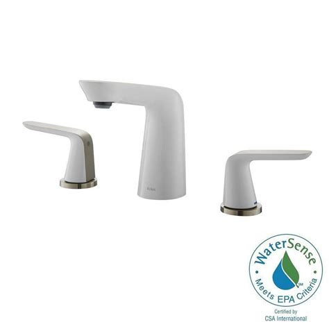 white bathroom faucets kraus seda 8 inch widespread 2 handle bathroom faucet brushed nickel white the home depot canada