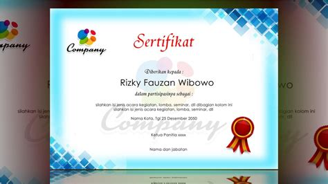 certificate design tutorial certificate design blue photoshop tutorial youtube