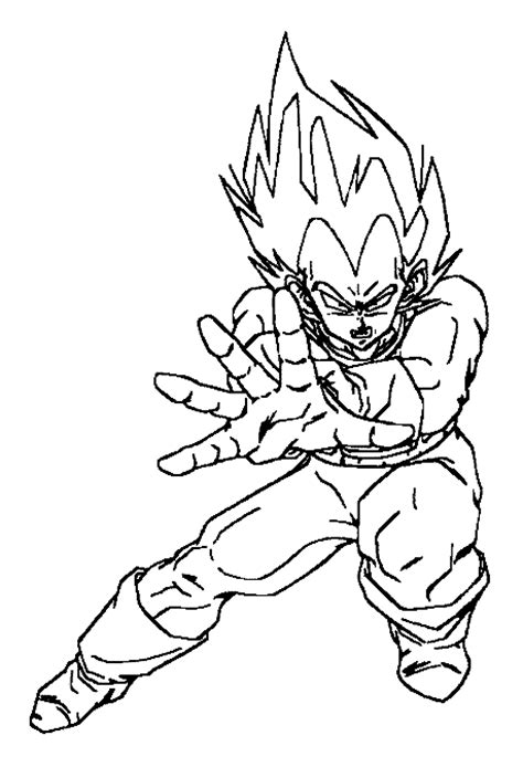 dragon ball z vegeta coloring pages dragon ball z quot vegeta quot super saiyan prince coloring books