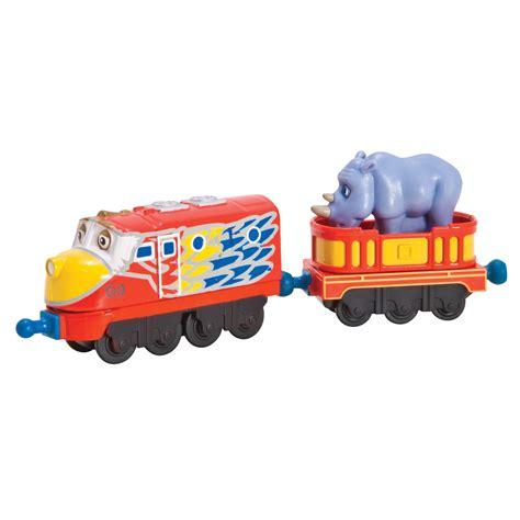 chuggington brio chuggington die cast parrot wilson with rhino car at toystop
