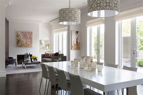 drum lights for dining room magnificent drum pendant lighting in dining room