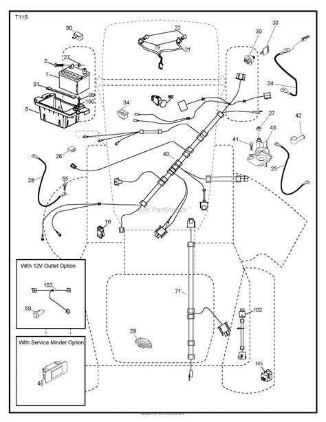husqvarna yth    parts diagram  electrical