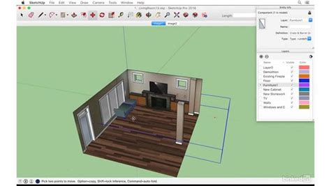 tutorial sketchup photo match space planning with 3d warehouse models