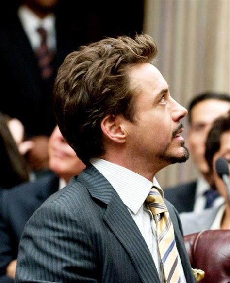 tony stark hair style robert downey jr s short medium flipped up hairstyle from