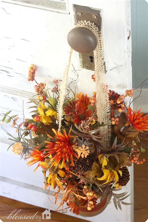 fall flower decorations easy fall flower can door decor