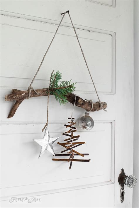 how to fix christmas tree branches rustic twig tree ornament on a branchfunky junk interiors