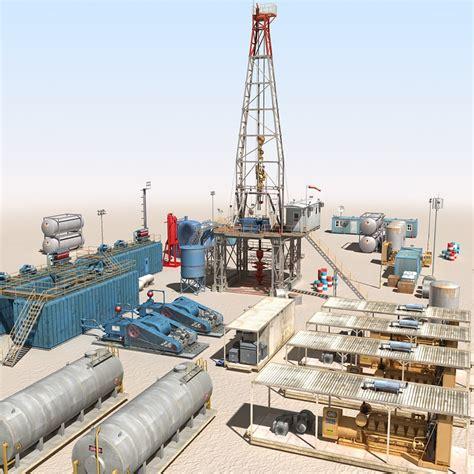 drilling rig image land rig site 1 3d animation oil 3d land rig scene