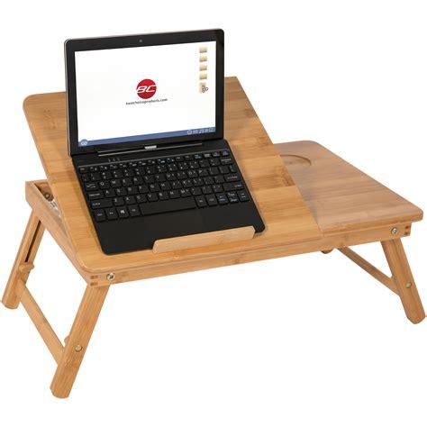 swing  laptop table portable lap desk riser  brown