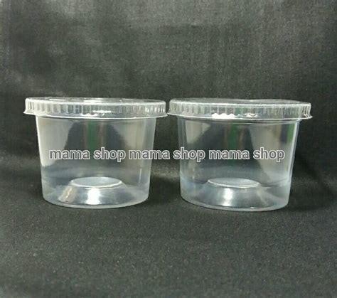 Cup 50ml Cup Puding Cup Agar Cup Kecil Cup Bening Plastik Polos jual cup puding es es krim jelly jeli agar agar gelas plastik kecil shop