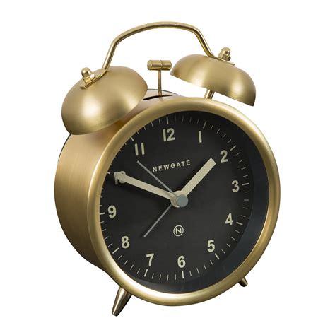 buy newgate clocks bell alarm clock radial brass amara