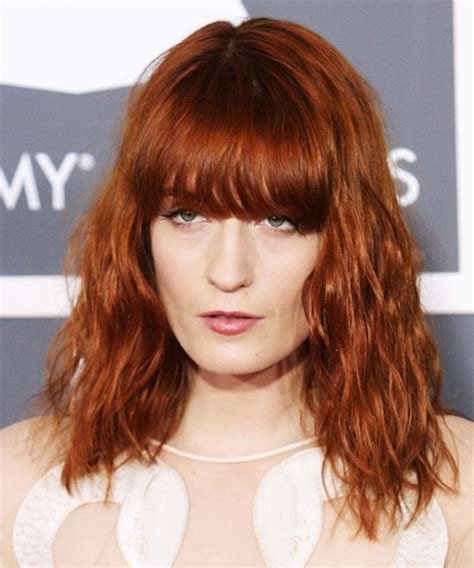 Hair Style Machine by Florence Welch Medium Wavy Casual Hairstyle
