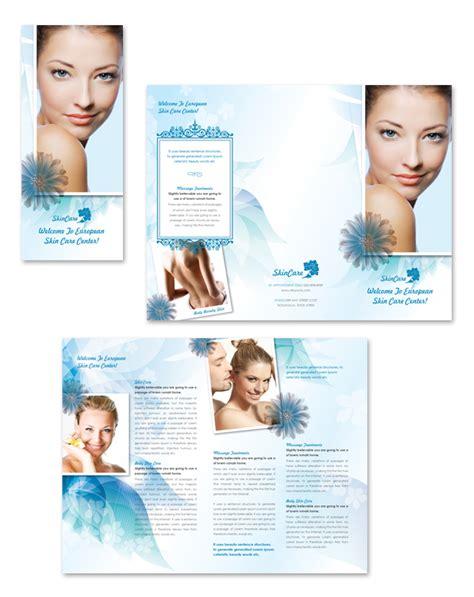 Free Skin Care Brochure Templates Skincare Center Tri Fold Brochure Template Ideas Tadlifecare Com Free Skin Care Brochure Templates