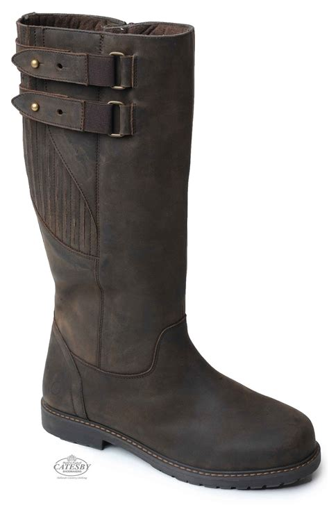 mens brown knee high boots catesby moreton s knee high country boots hollands