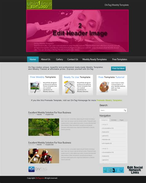 Premium Weebly Templates And Weebly Themes Html Autos Weblog Premium Weebly Themes And Templates