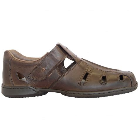 mens summer sandals rieker glen s casual summer shoes in brown leather