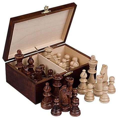 staunton chess pieces staunton no 6 tournament chess pieces w wood box ebay