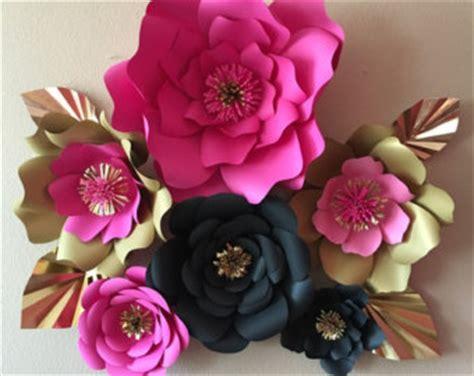 Katee Spadee Flower 6 kate spade inspired paper flowers pink gold black