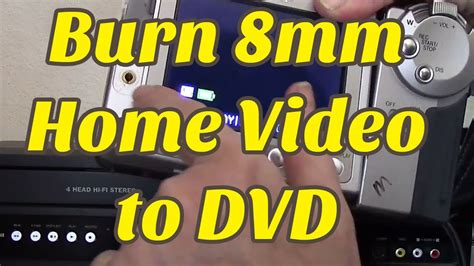 cassette to dvd how to convert 8mm to dvd diy