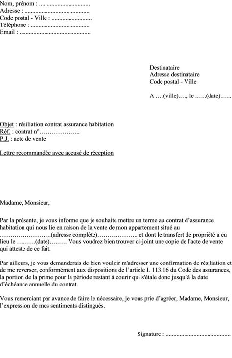 Lettre De Résiliation Mobile Cause Chomage Modele Lettre R 233 Siliation Du Contrat D Assurances 224 233 Ch 233 Ance Pictures To Pin On