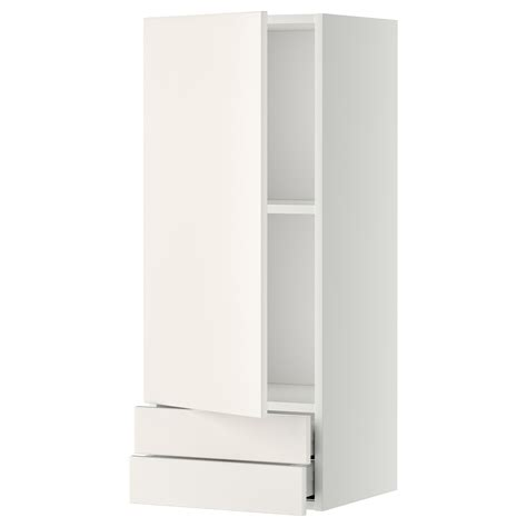 Wall Cabinet With Drawers by Metod Maximera Wall Cabinet With Door 2 Drawers White