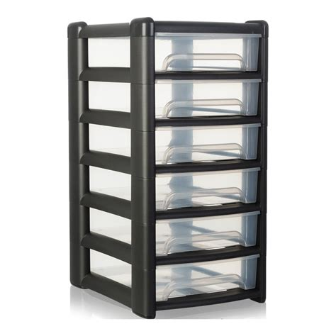 shallow drawer storage cabinet buy shallow uni plastic six drawer unit plastic desk