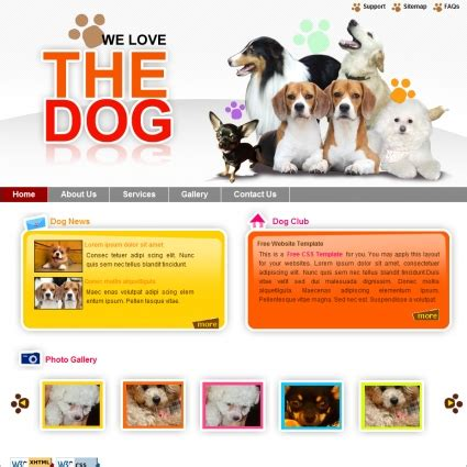 puppy websites free website templates in css html js format for free 469 55kb