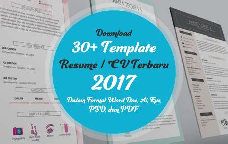 format cv terbaru 2017 download 30 template resume cv terbaru 2017 dalam