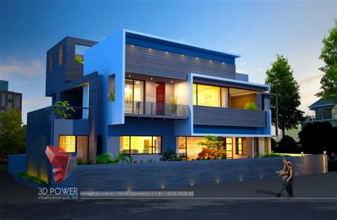 exterior view residential towers row houses township designs villa