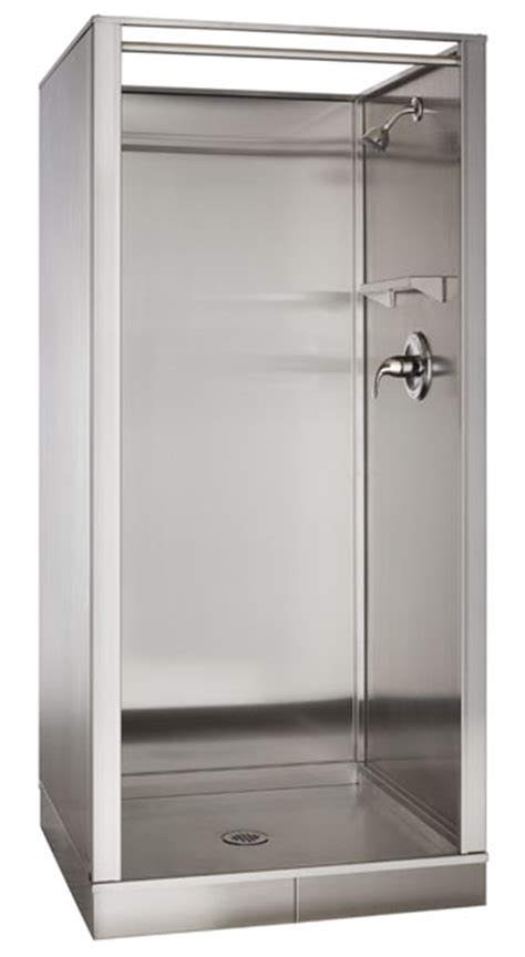 Stainless Steel Shower by Stainless Steel Showers Omega Products Inc