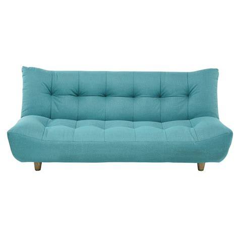 Clic Clac Sofa Beds 3 Seater Clic Clac Sofa Bed In Turquoise Blue Cloud Maisons Du Monde