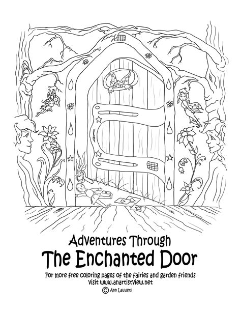 fairy door coloring page free coloring pages of enchanted garden