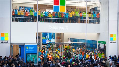 microsoft opens the doors to its new york city flagship