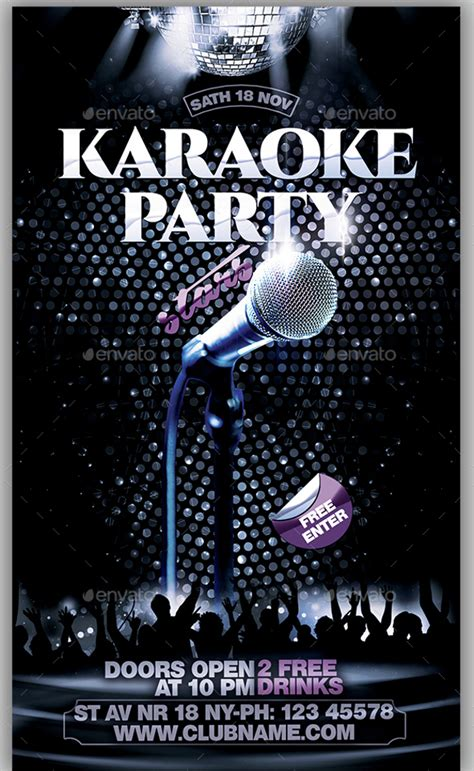 free templates for karaoke flyers 21 karaoke flyer design psd download design trends