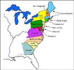Map of the british colonies in north america in 1763 image courtesy