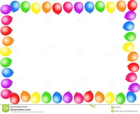 balloon border template free borders clipart panda free clipart images