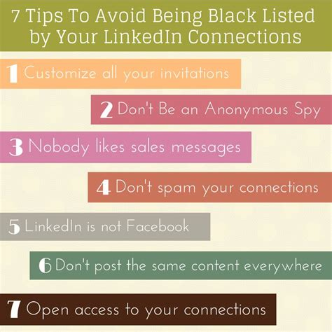7 Tips On Being A by 7 Tips To Avoid Being Black Listed By Your Linkedin