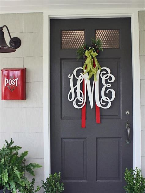 Home With Baxter Front Door Christmas Decorating Front Door Decor